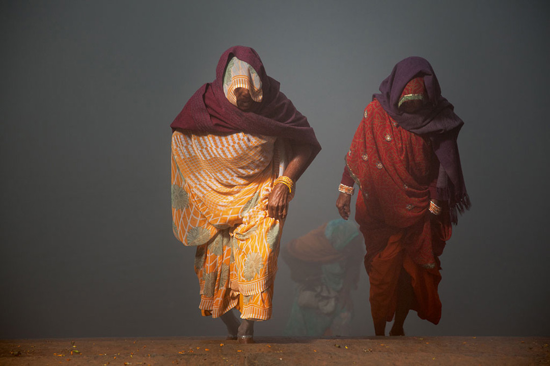 André Wagner: Coming back from Yamuna River, Indien 2011
