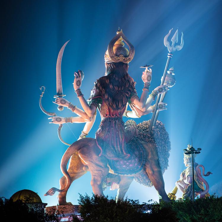 """Spirital Architecture - Durga and Hanuman"", Indien 2014"