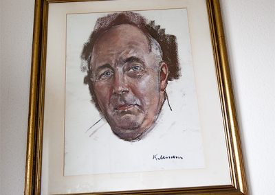 """aus """"Großvater"""": Vorstudie für das Rektorenportrait der Universität Köln. Dieses Bild des Malers Hans Jürgen Kallmann hing bei uns Zuhause über dem Sofa."""