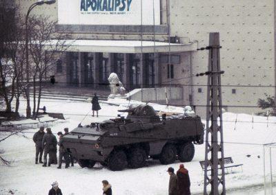 Stan wojenny, Warszawa, Polska, grudzien 1981 Martial law, Warsaw, Poland, December 1981